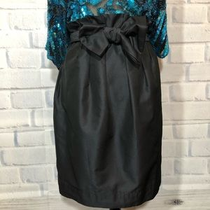 French Connection Black Paperbag Waist Skirt